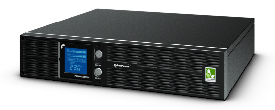 CyberPower ИБП Line-Interactive PR1000ELCDRT2U 1000VA/900W USB/RS-232/Dry/EPO/SNMPslot/RJ11/45/ 2U для установки в стойку 19