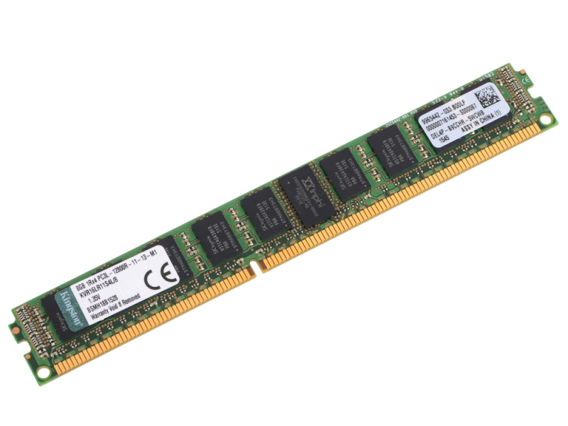 Модуль памяти 8Gb Kingston DDR3 ECC REG 1600MHz PC12800 KVR16LR11S4L/8