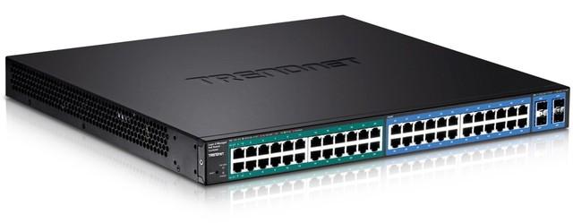 Управляемый коммутатор TRENDnet 24xGbE PoE /24xGbE PoE+ /4xSFP TL2-PG484 для установки в стойку 19