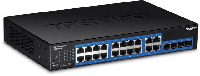 Управляемый коммутатор TRENDnet 16xGbE /4xSFP TEG-204WS для установки в стойку 19