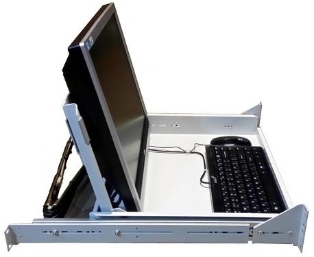 2-port KVM консоль для стойки 19
