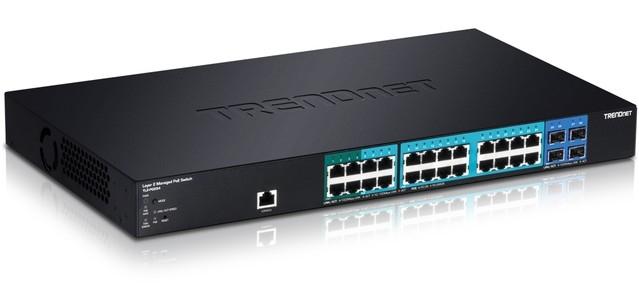 Управляемый коммутатор TRENDnet 20xGbE PoE /4xGbE PoE+ /4xSFP TL2-PG284 для установки в стойку 19
