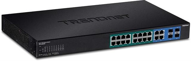Управляемый коммутатор TRENDnet 16xGbE PoE+ /2xSFP TPE-1620WS для установки в стойку 19