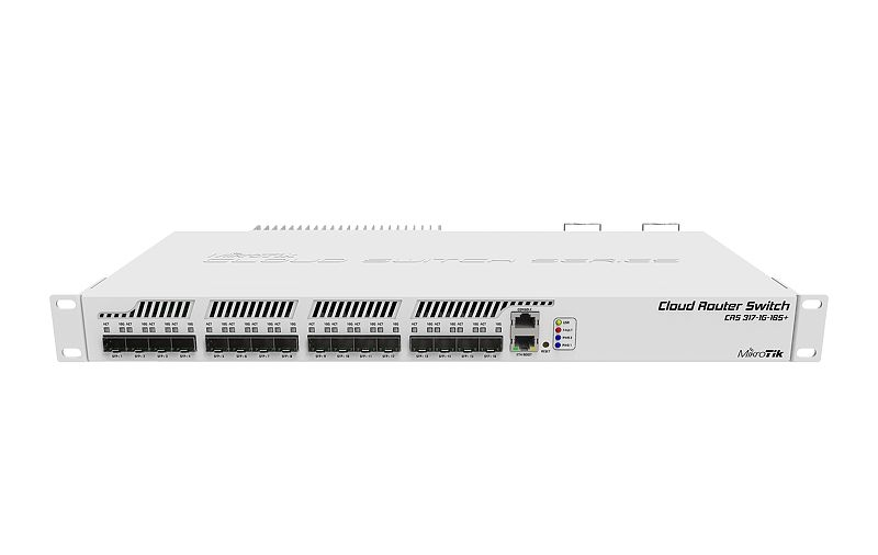 Маршрутизатор MikroTik 1xGbE /16xSFP+ CRS317-1G-16S+RM для установки в стойку 19
